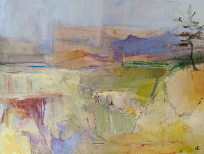 Blue Mountain, Connemara, Oil on board, 47cm x 62cm 2013 by Vivienne Haig