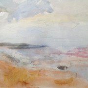 Coast at Foxton, Nothumberland Pencil and Watercolour on Paper 30cm x 41cm 2008 by Vivienne Haig