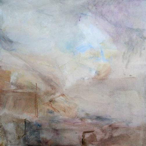 The Fear Oil on Canvas 40cm x 40cm 2009 by Vivienne Haig