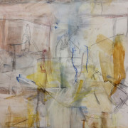 Ascending Yellows, Watercolour and pencil on sized paper, 42cm x 45cm 2012 by Vivienne Haig
