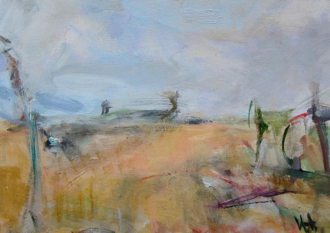 Bruce Field 2, Oil on board, 22cm x 30cm 2010 by Vivienne Haig
