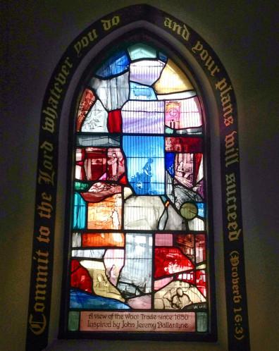 Stained Glass Window, St. Andrew's Scottish Episcopal Church Innerleithen by Vivienne Haig
