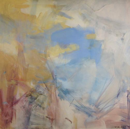 The Fear 2, Oil on canvas, 82cm x 82cm 2009 by Vivienne Haig