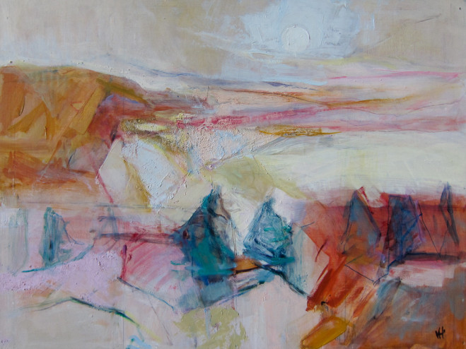 Wicklow Mountains, Oil on board, 47cm x 62cm 2013 by Vivienne Haig