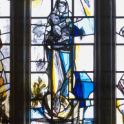 Detail. The Newman Window, Stained Glass by Vivienne Haig