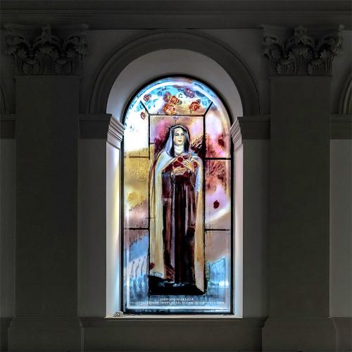 Lancet Window (detail), St. Patrick's Catholic Church, Soho, London by Vivienne Haig